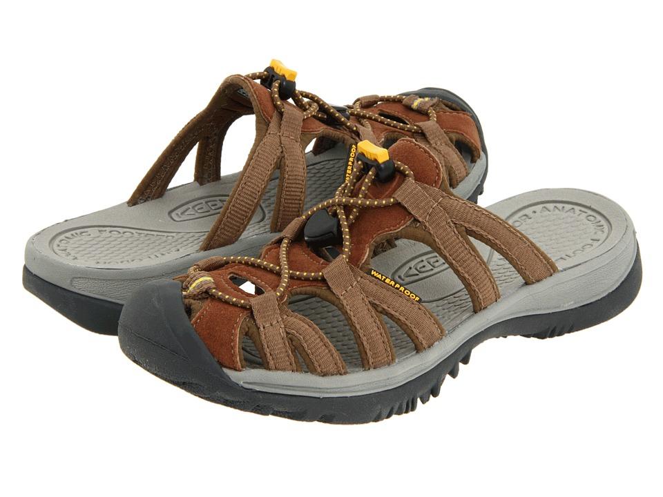 Keen - Whisper Slide (Coffee Liqueur/KEEN Yellow) Women's Sandals