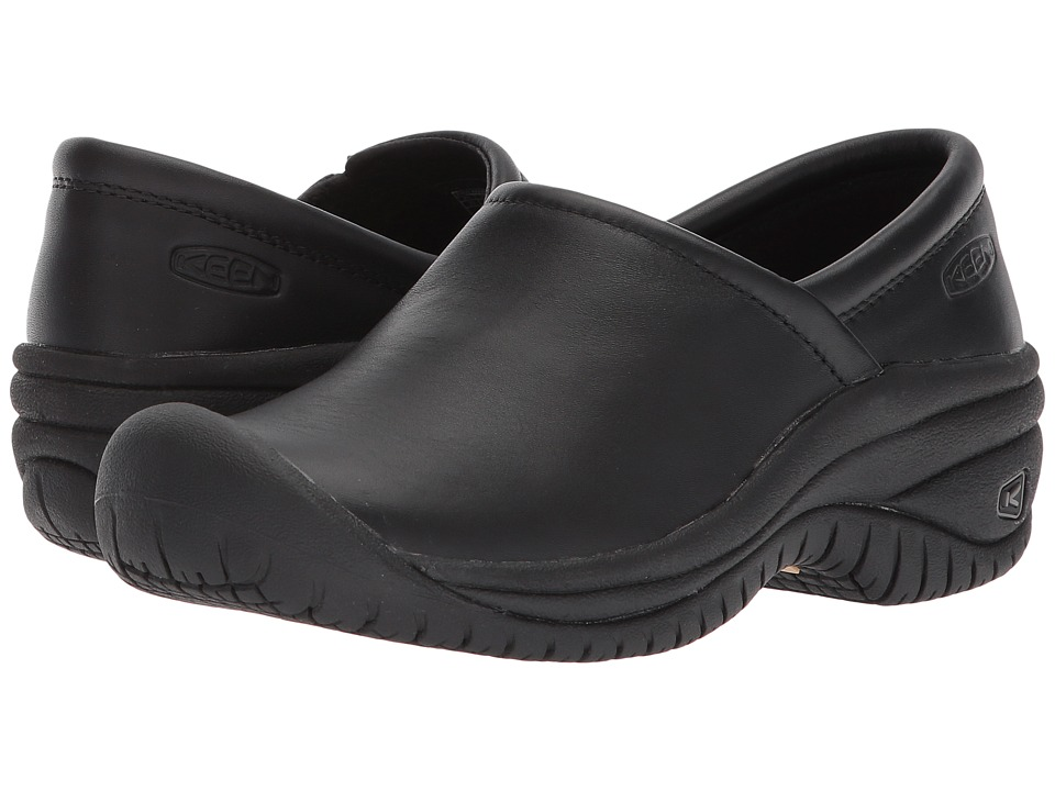 Keen Utility - PTC Slip-On II (Black) Womens Industrial Shoes