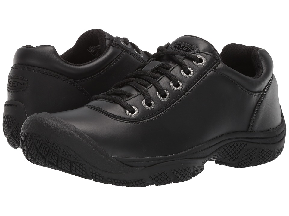 Keen Utility - PTC Dress Oxford (Black) Mens Industrial Shoes