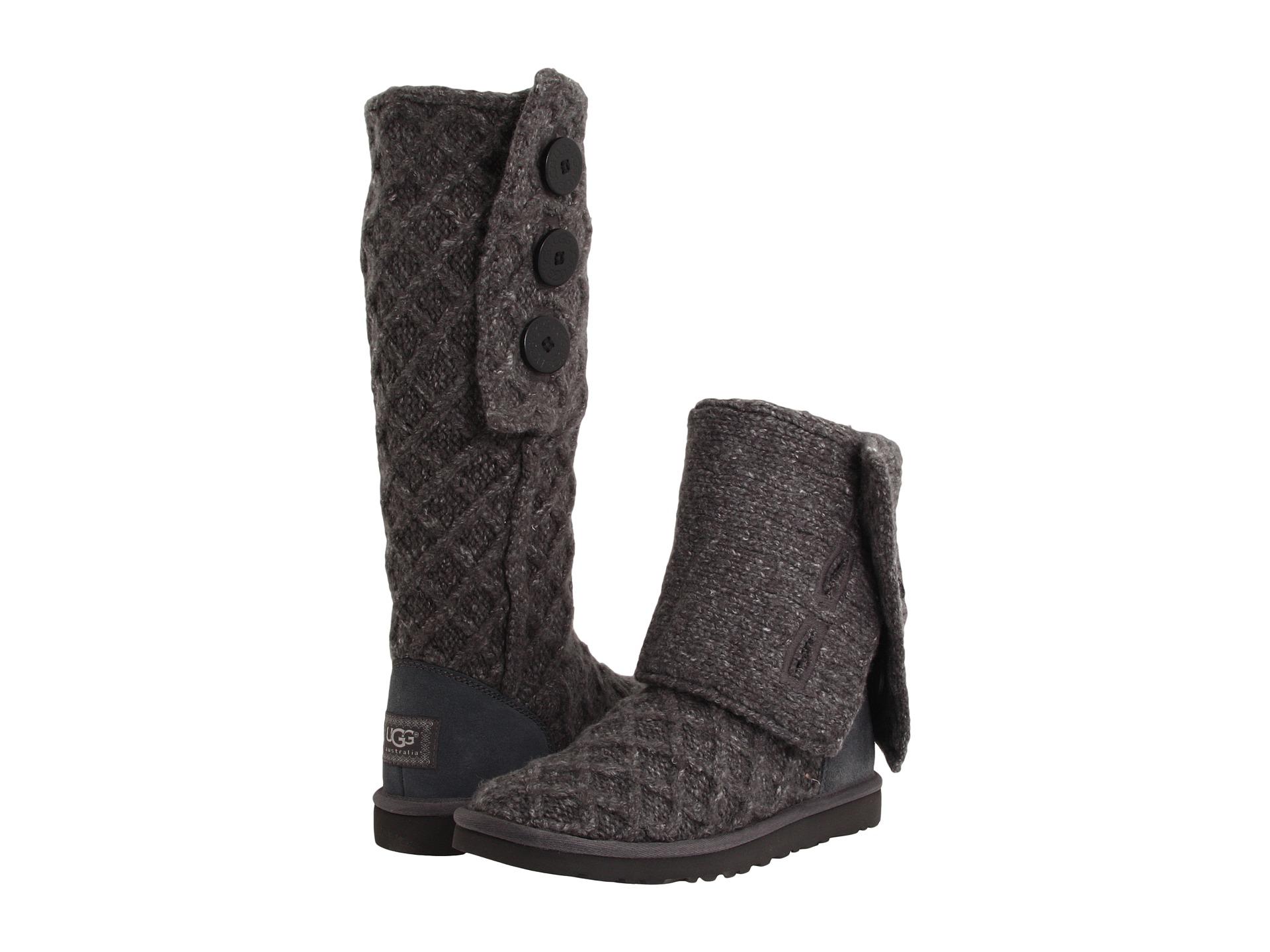 uggs knit boots lattice