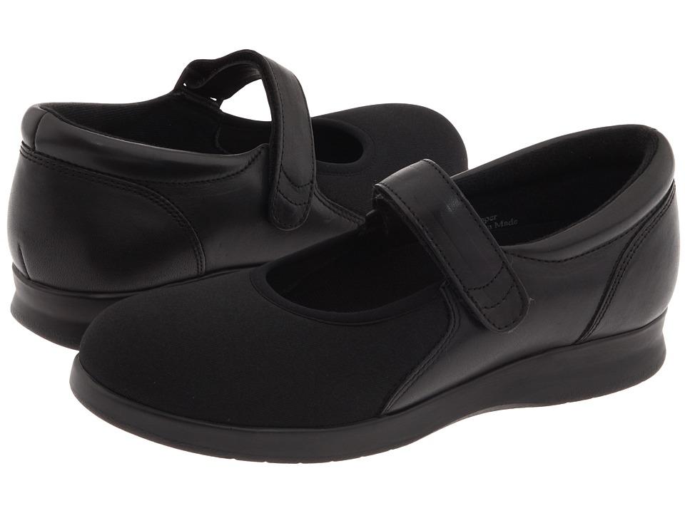 Drew Bloom II (Black Leather/Stretch) Maryjane Shoes