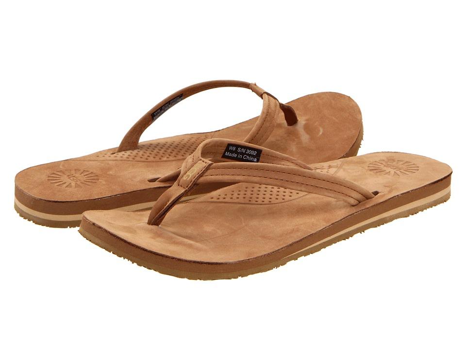 UGG Kayla (Chestnut Leather) Sandals