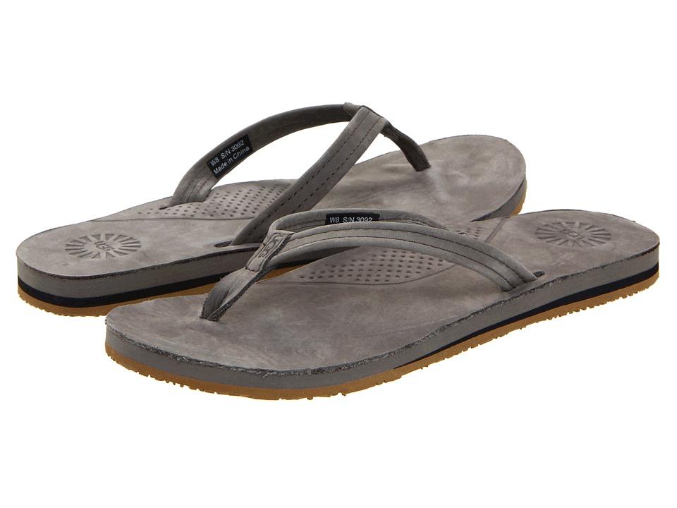 UGG Kayla (Charcoal Leather) Sandals