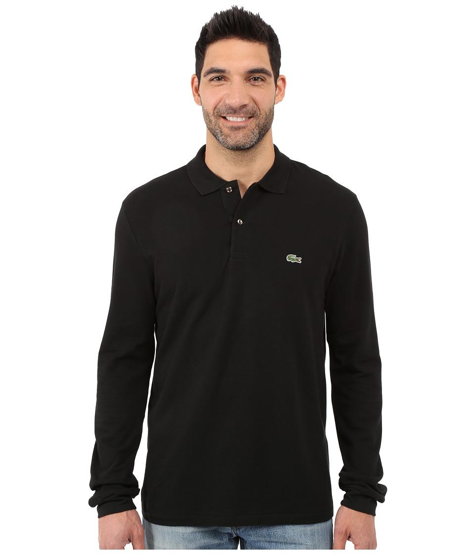 Lacoste - L/S Classic Pique Polo (Black) Men