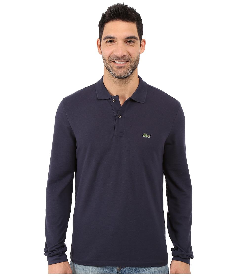 Lacoste - L/S Classic Pique Polo (Navy Blue) Men