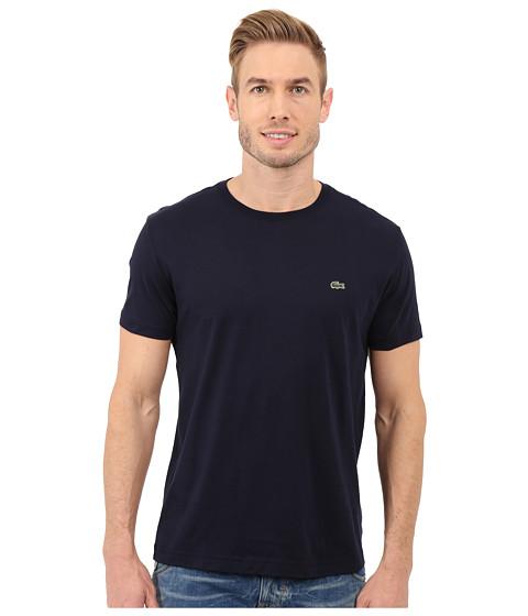 Lacoste Short-Sleeve Pima Jersey Crewneck T-Shirt