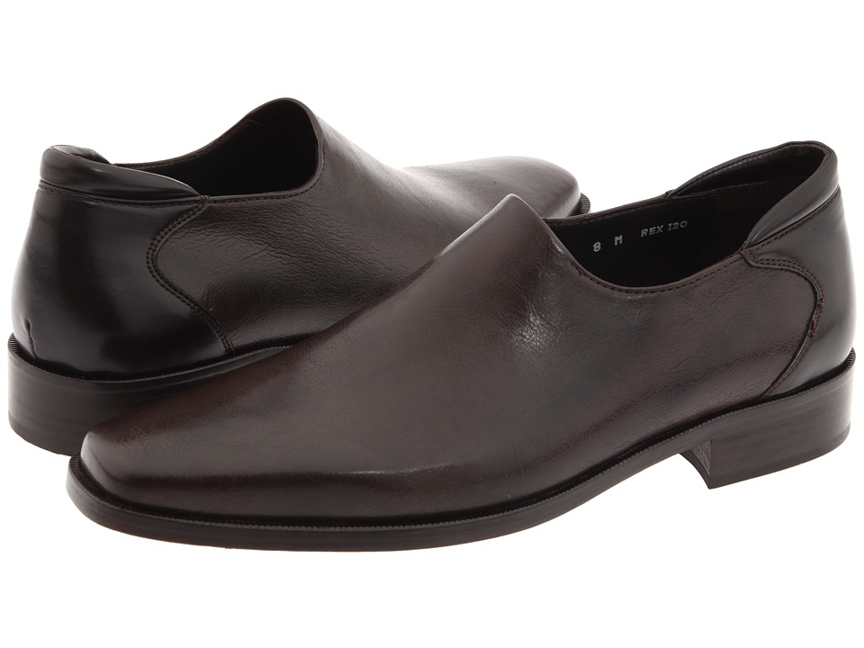 Donald J Pliner Rex Expresso Distress Nappa Mens Slip on Dress Shoes