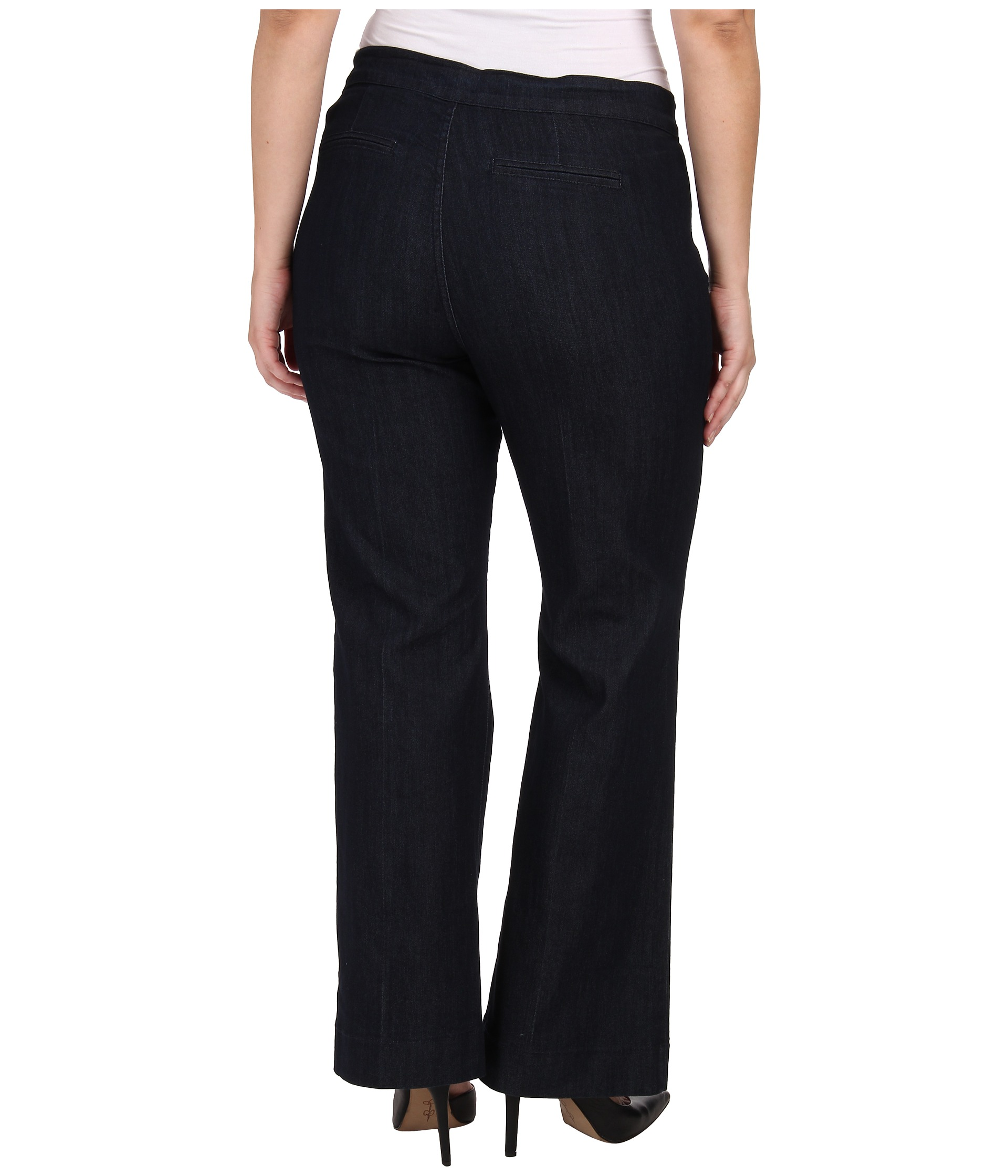 Plus Size Trouser Jeans Dark Wash