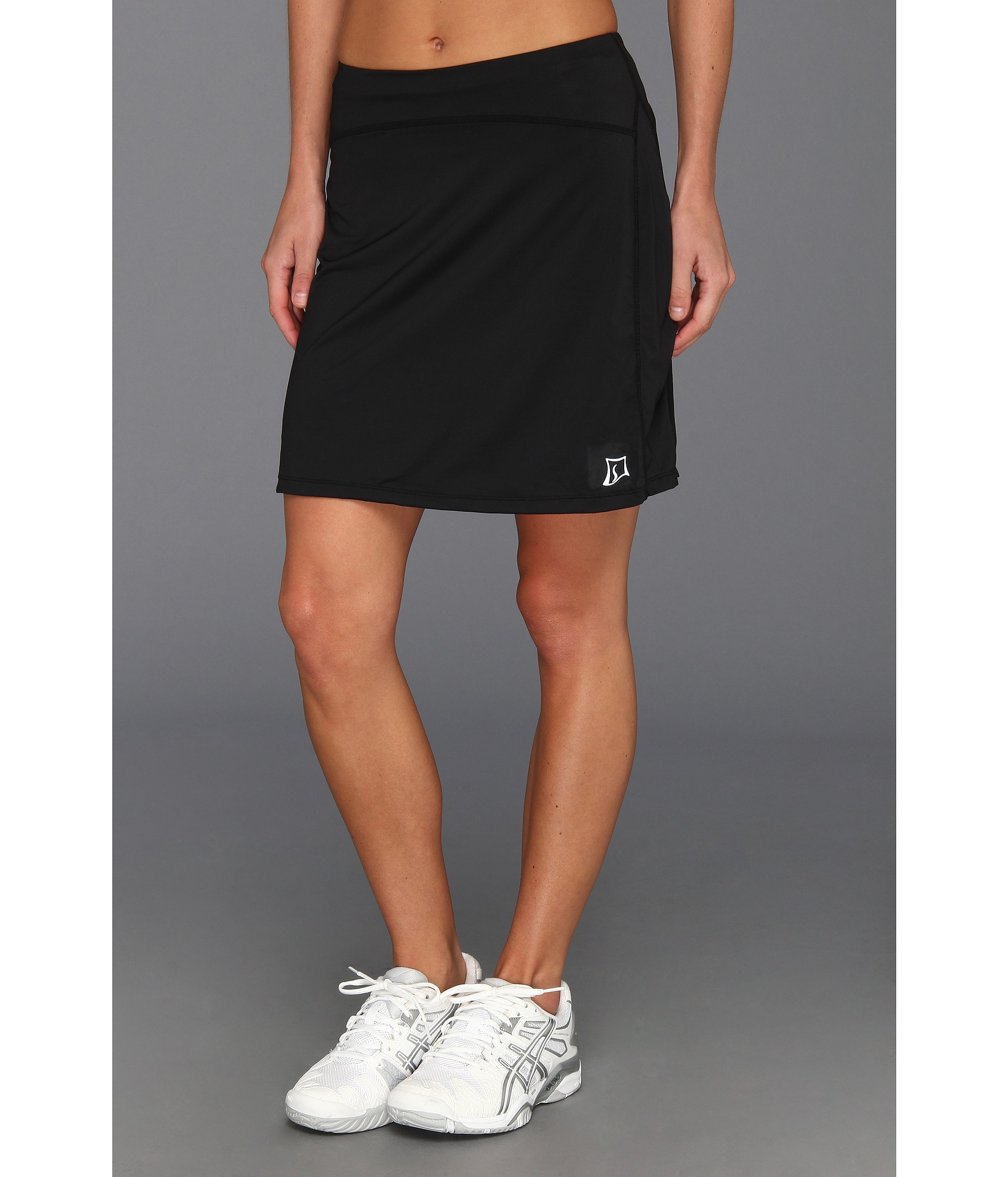 "The first ""running skirt"" was designed 12 years ago and features a built in brief and 2 roomy velcro-closure side pockets. We've since expanded our line to include 10 different fitness skirt styles including running skirts, athletic skirts, golf, tennis, triathlon, SUP & capri skirts, maternity running skirts, spirit below-knee length."