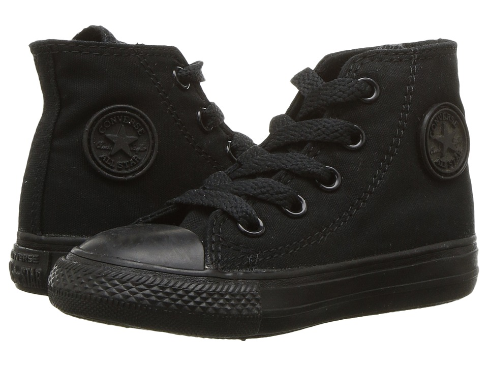 Converse Kids Chuck Taylor All Star Core Hi (Infant/Toddler) (Black/Monochrome) Kids Shoes