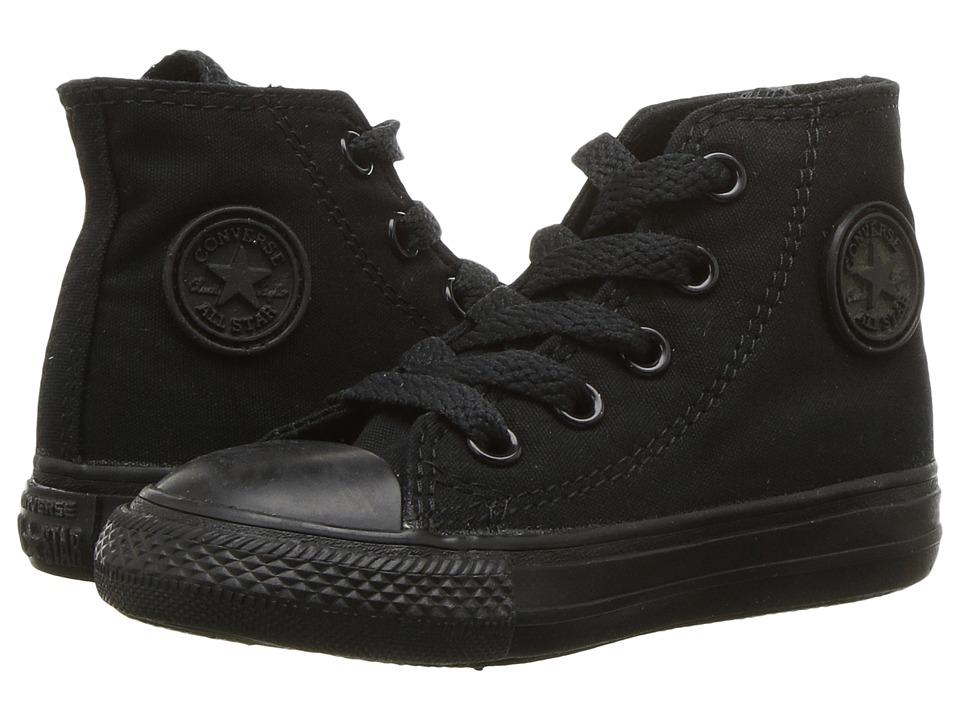 Converse Kids Chuck Taylor(r) All Star(r) Core Hi (Infant/Toddler) (Black/Monochrome) Kids Shoes