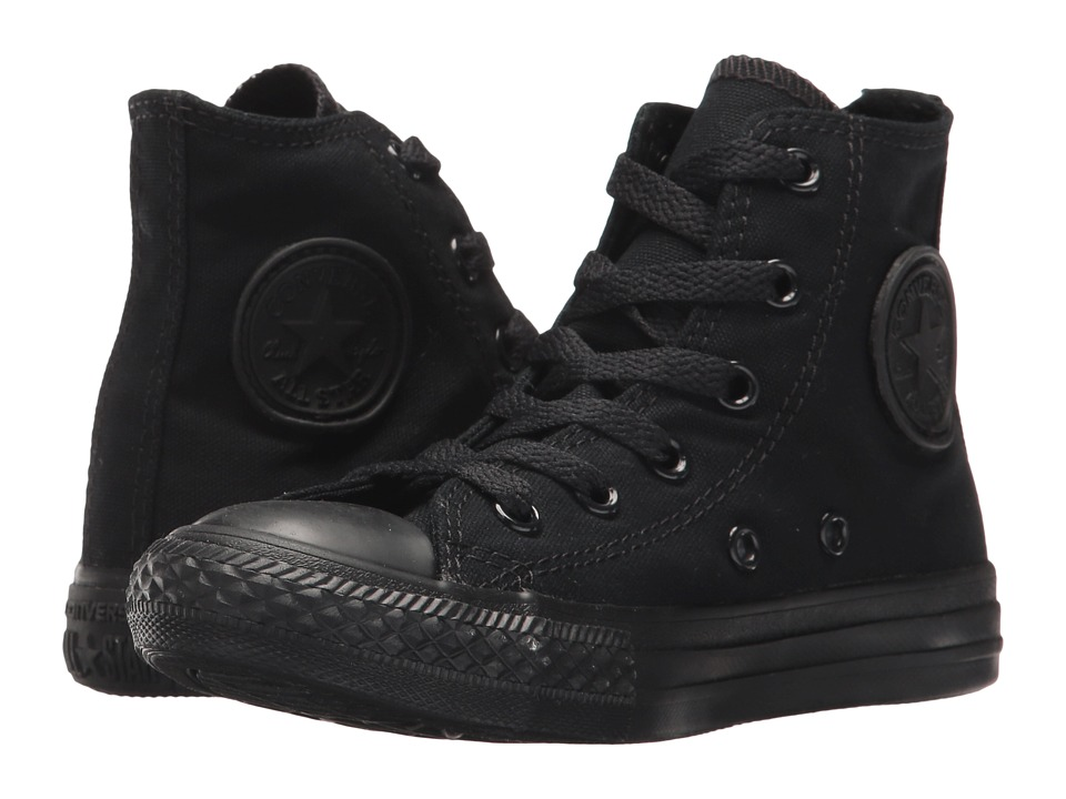 Converse Kids Chuck Taylor All Star Core Hi (Little Kid) (Black/Monochrome) Kids Shoes