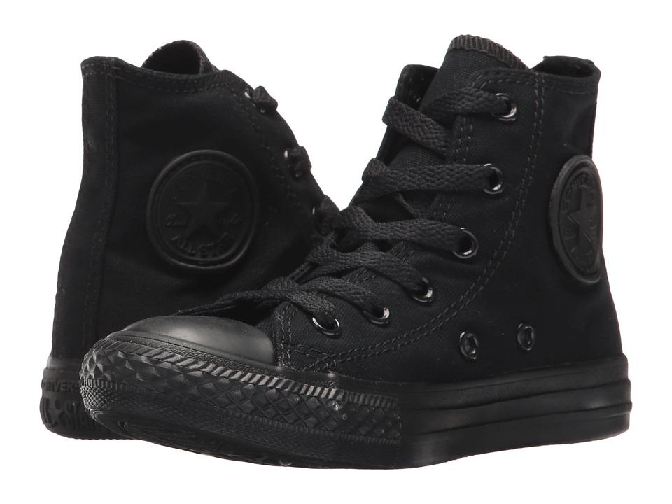 Converse Kids Chuck Taylor(r) All Star(r) Core Hi (Little Kid) (Black/Monochrome) Kids Shoes