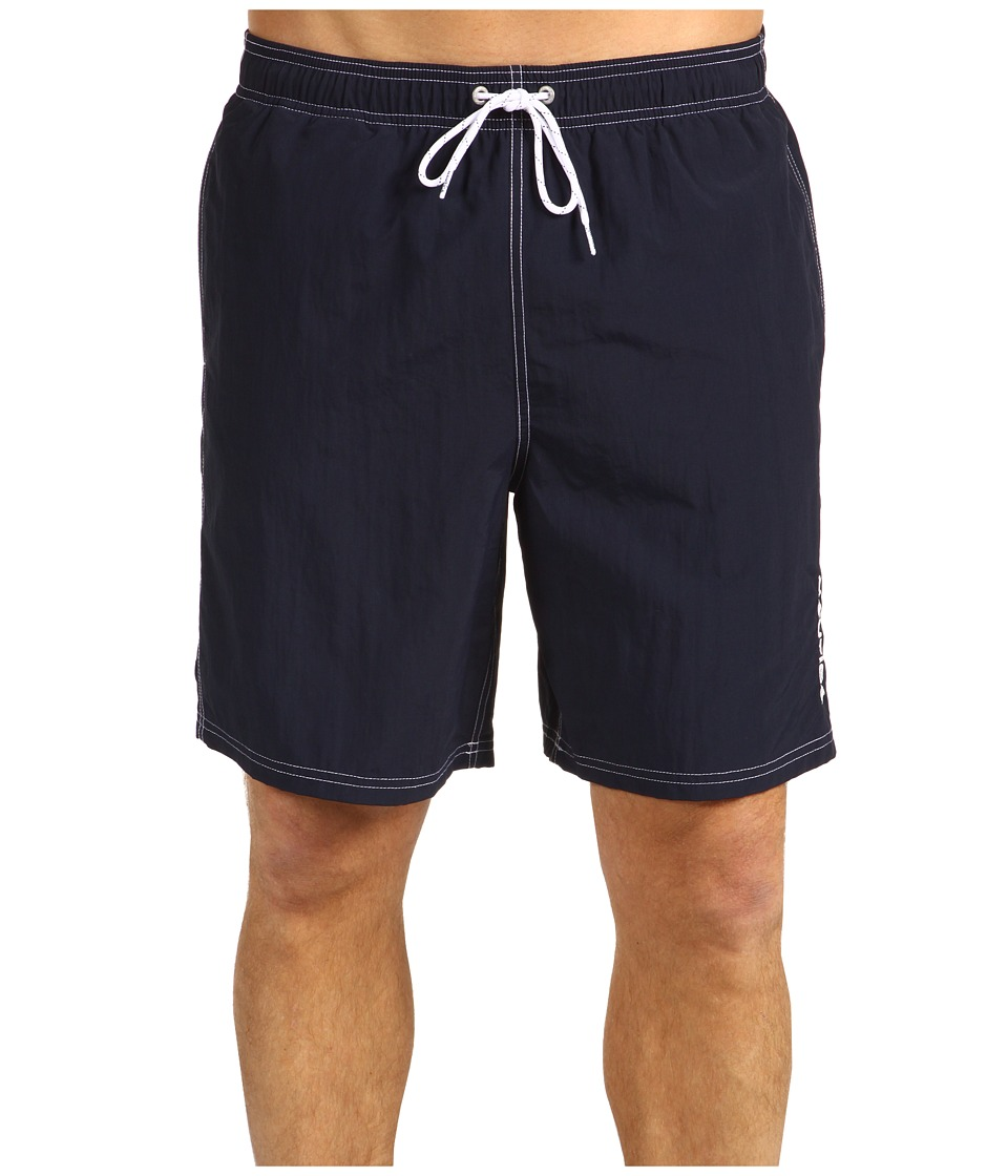 Nautica - Solid Nylon Boardshort (Navy) Mens Swimwear