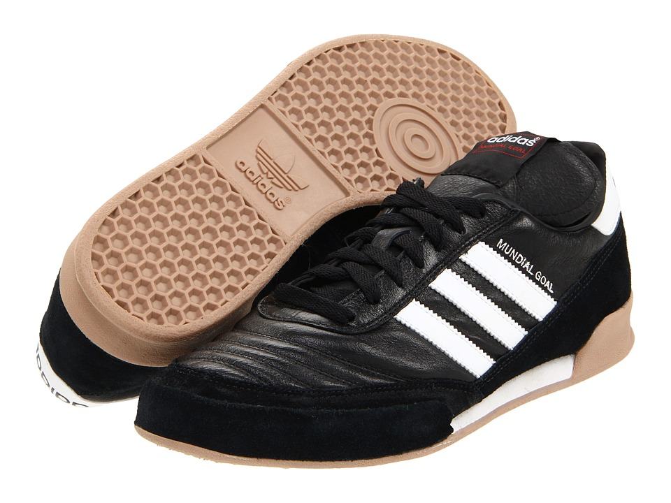 adidas - Mundial Goal (Black/Running White) Mens Soccer Shoes