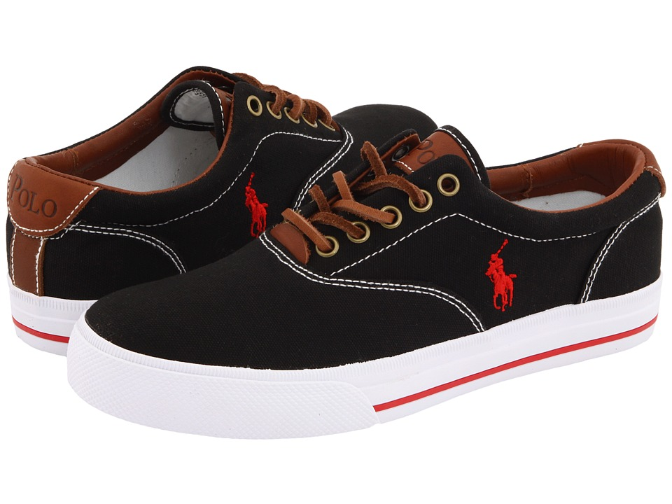 Polo Ralph Lauren Vaughn Canvas/Leather (Black) Men