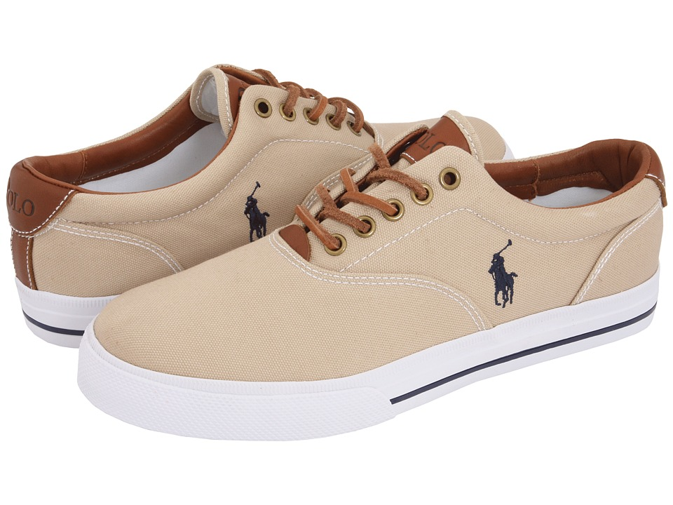 Polo Ralph Lauren Vaughn Canvas/Leather (Khaki) Men