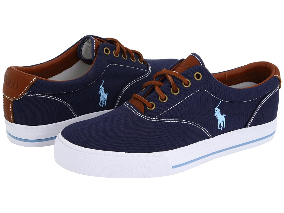 Polo Ralph Lauren Vaughn Canvas/Leather (Navy) Men