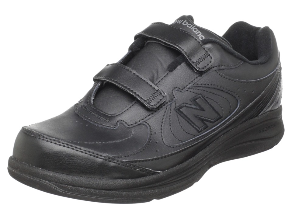 New Balance WW577 Hook and Loop (Black) Walking Shoes