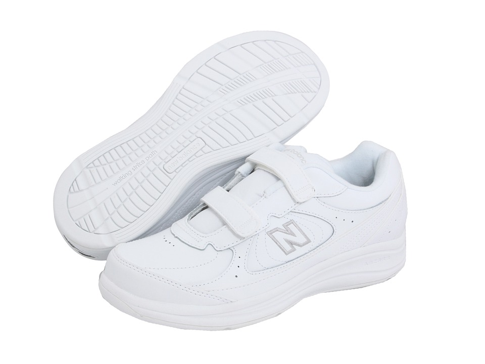 New Balance WW577 Hook and Loop (White) Walking Shoes