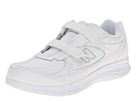 New Balance WW577 Hook and Loop White Shoes