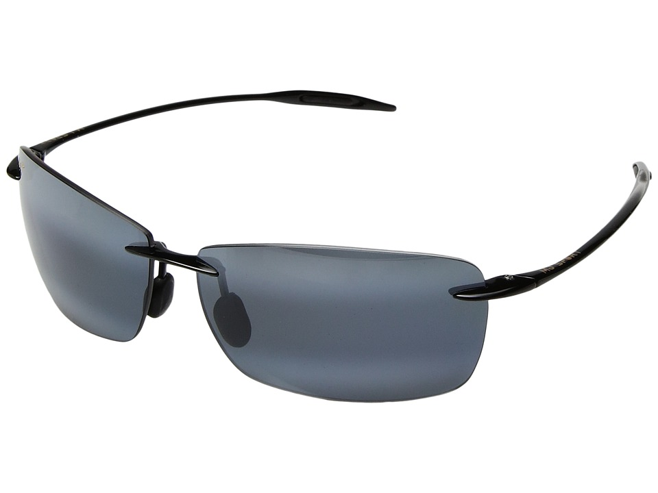 Maui Jim - Lighthouse (Gloss Black/Neutral Grey) Sport Sunglasses