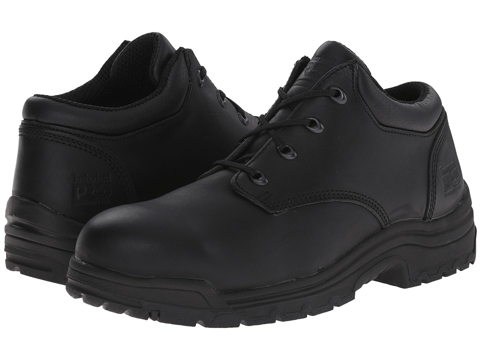 Timberland PRO - TiTAN Oxford Safety Toe Low (Black Smooth Full-Grain Leather) Men