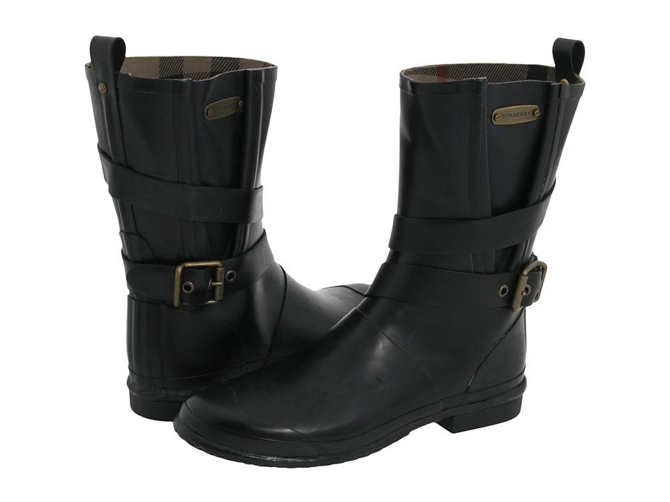 Burberry - Mid Buckle Rainboot (Black) Women
