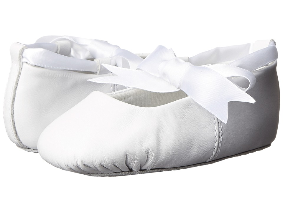 Baby Deer - Sabrina Ballet (Toddler/Little Kid) (White Leather) Girls Shoes