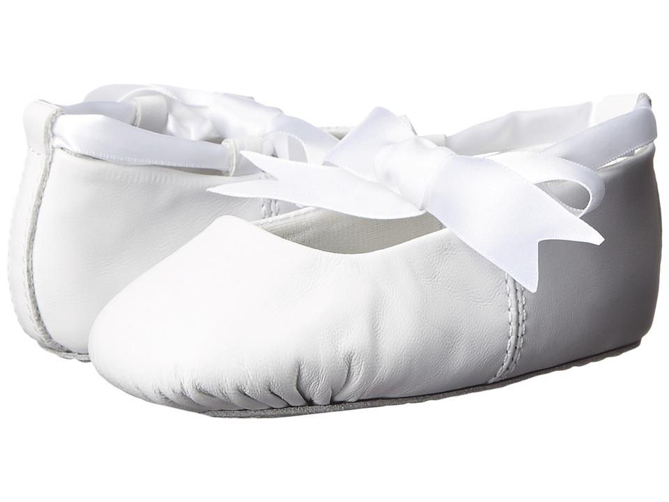 Baby Deer Sabrina Ballet Toddler/Little Kid White Leather Girls Shoes