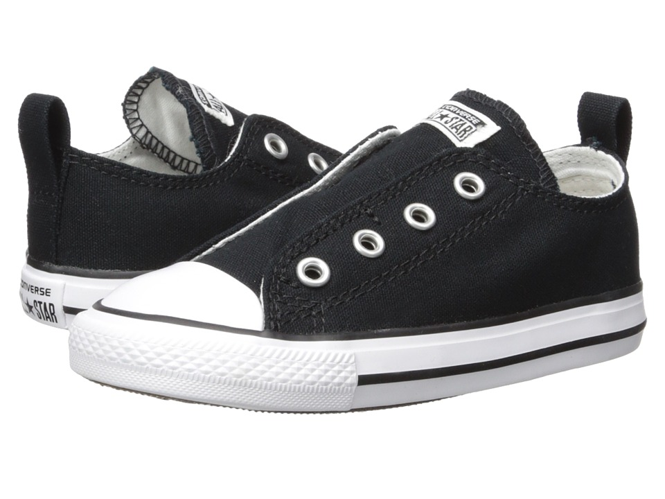 Converse Kids Chuck Taylor All Star Core Slip (Infant/Toddler) (Black) Kids Shoes
