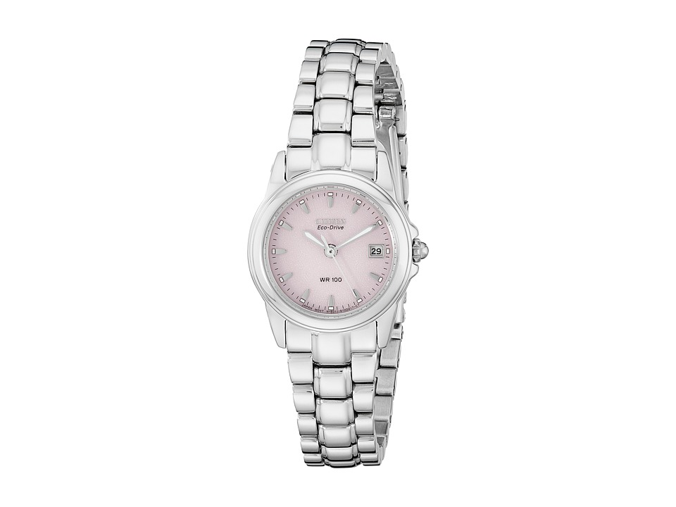 Citizen Watches EW1620 57X Eco Drive Stainless Steel Watch Stainless Steel/Pink Analog Watches