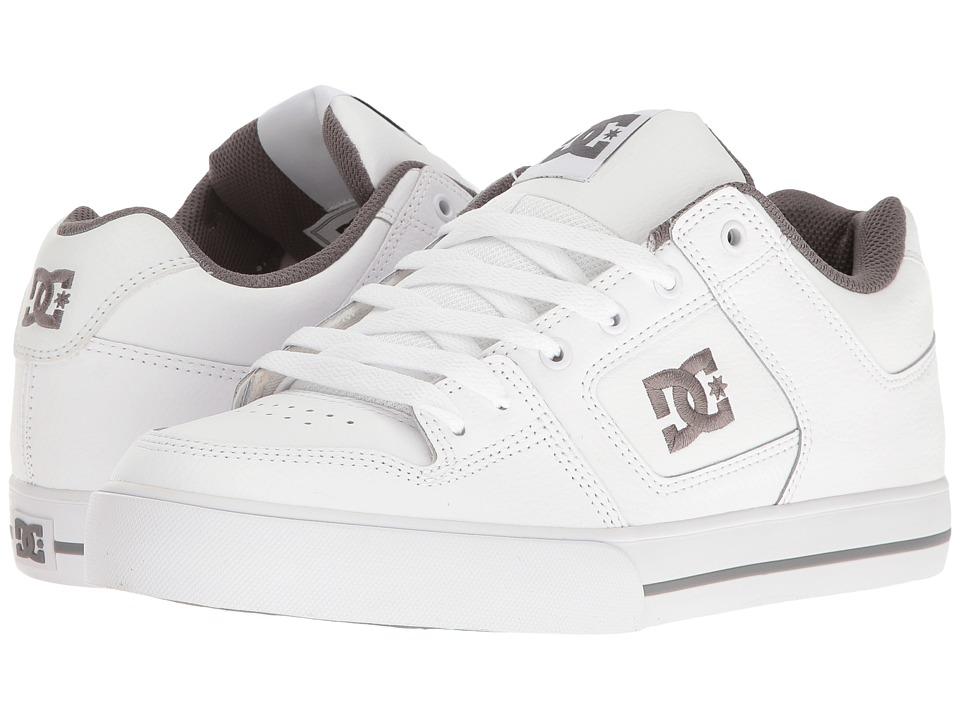 DC - Pure (White/Battleship/White) Mens Skate Shoes