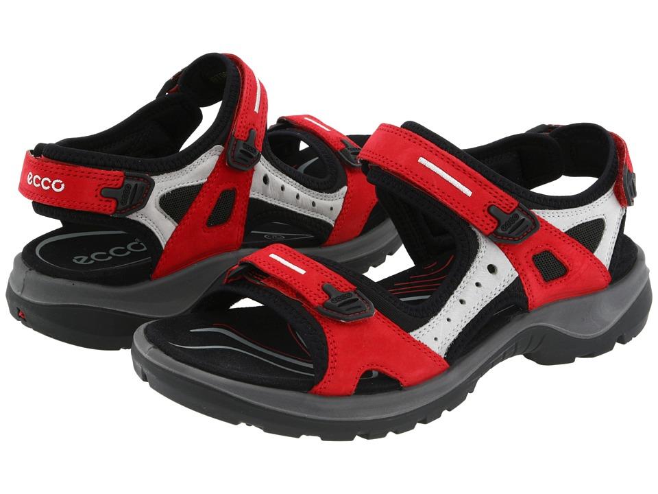 ECCO Sport Yucatan Sandal Chili Red/Concrete/Black Womens Sandals
