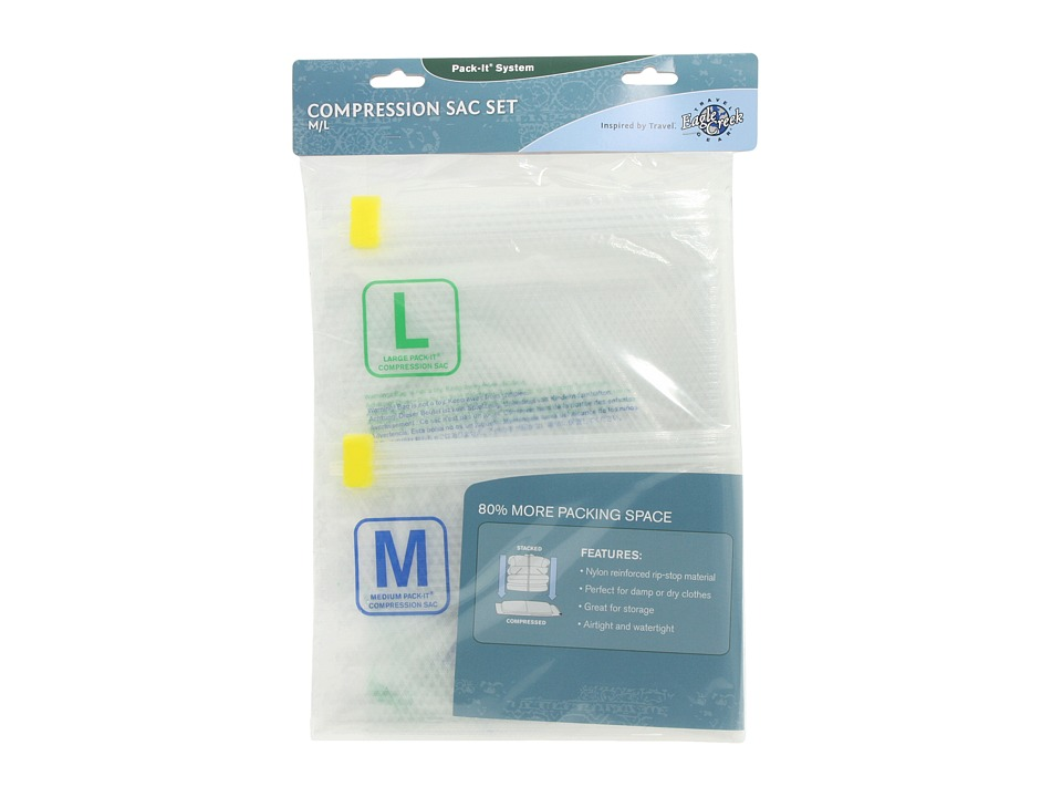 Eagle Creek - Pack-It Compression Sac Set - M/L (Clear) Wallet