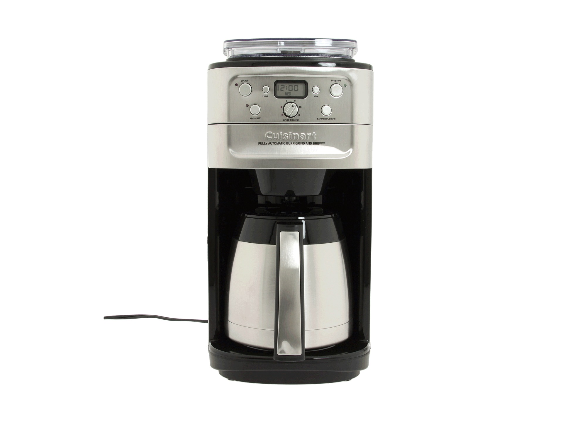 Grind And Brew Coffee Maker Thermal Carafe : Cuisinart Dgb 900bc Grind Brew Thermal 12 Cup Coffee Maker Shipped Free at Zappos
