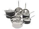Cuisinart - MultiClad Unlimited 12-Piece Cookware Set (Black) - Home