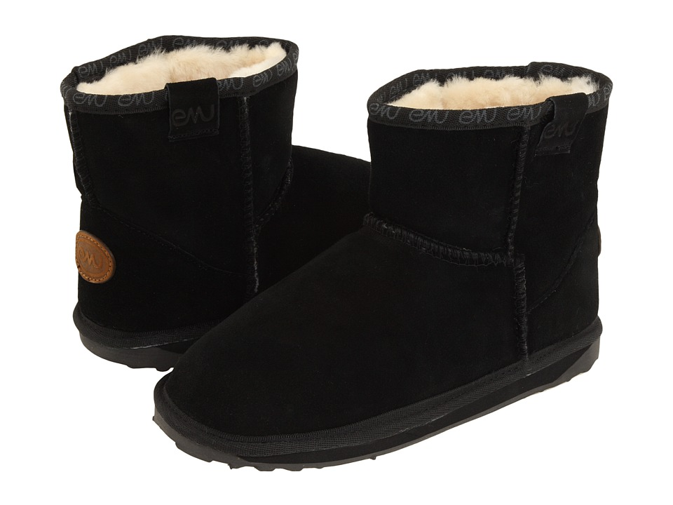EMU Australia Kids Wallaby Mini (Toddler/Little Kid/Big Kid) (Black) Kids Shoes