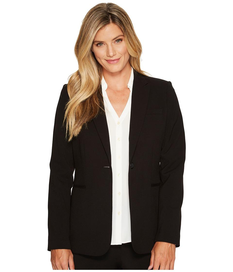 Calvin Klein 1 Button Jacket Black Womens Jacket