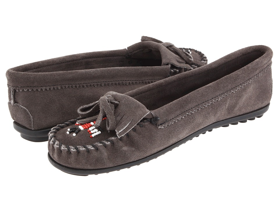 Minnetonka Thunderbird II (Grey) Women's Moccasin Shoes