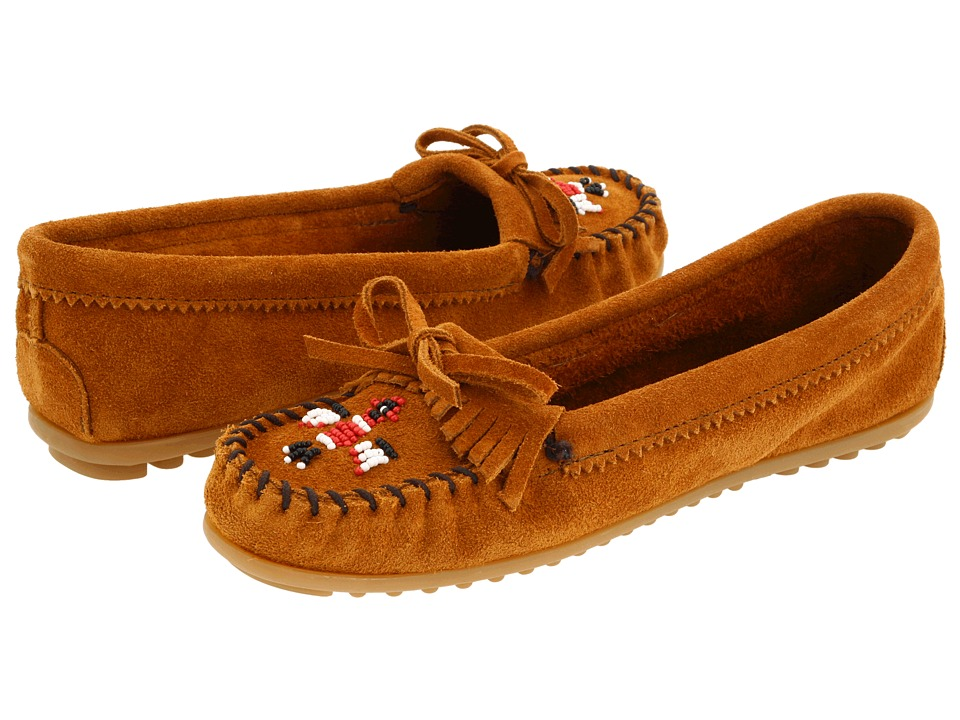 Minnetonka Thunderbird II (Brown Suede) Women's Moccasin ...