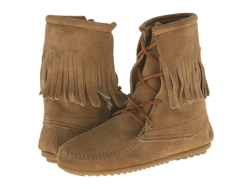 Minnetonka - Tramper Ankle Hi Boot (Taupe Suede) Womens Pull-on Boots