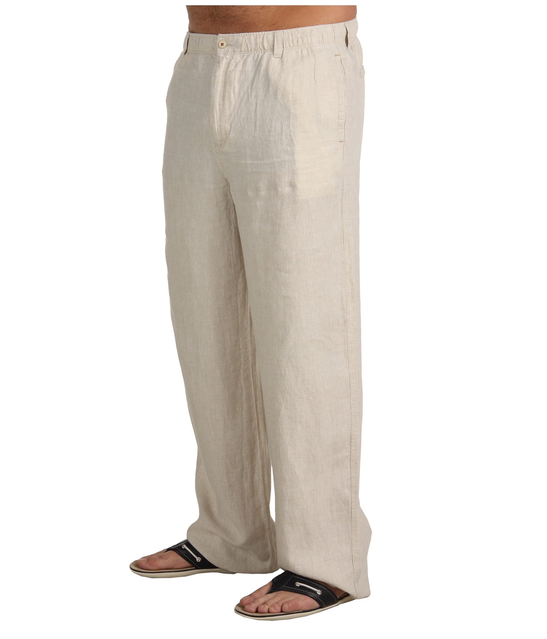 Simple Calvin Klein Linen Drawstring Beach Pants Womens