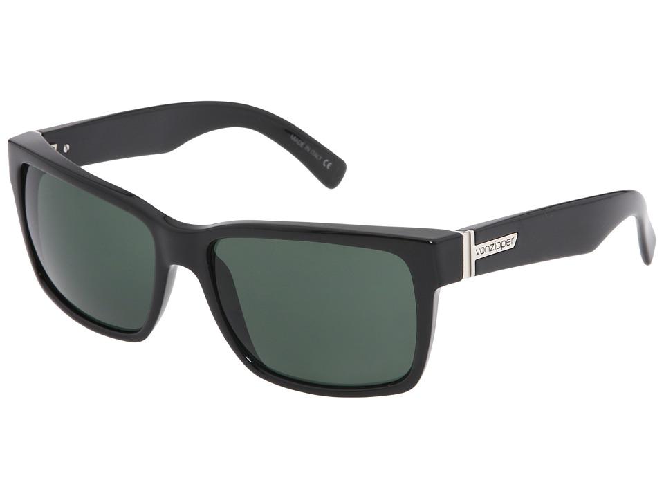 VonZipper Elmore (Black/Vintage Grey Lens) Sport Sunglasses