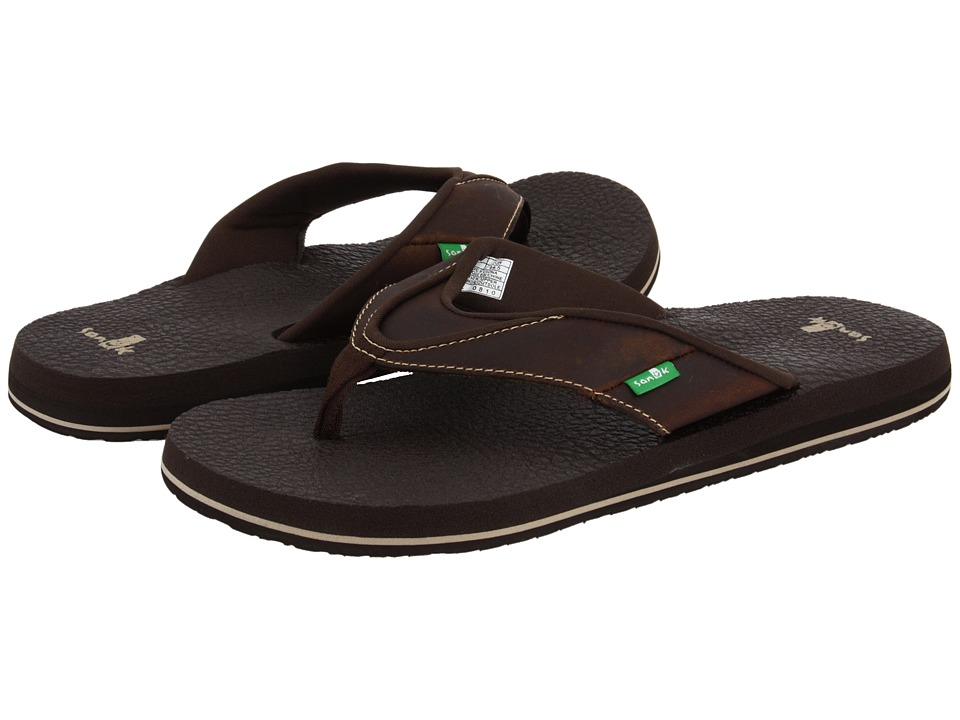 Sanuk - Beer Cozy Primo (Brown) Men's Sandals