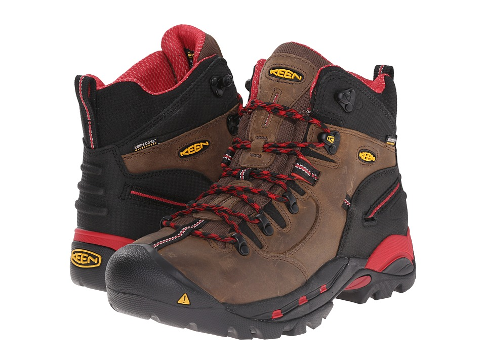 Keen Utility - Pittsburgh Boot (Bison/Red) Mens Work Boots