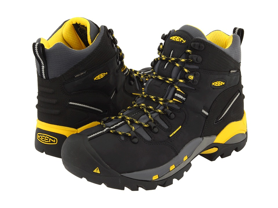 Keen Utility Pittsburgh Boot (Black/Yellow) Men