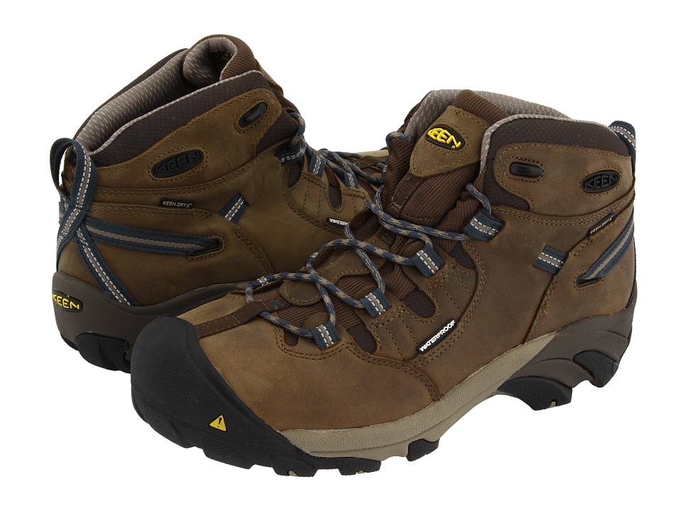 Keen Utility - Detroit Mid (Slate Black/Brindle) Mens Work Boots
