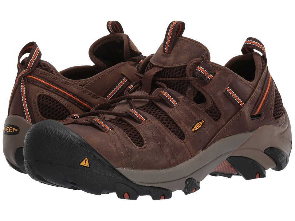 Keen Utility Atlanta Cool Shitake/Rust Mens Industrial Shoes
