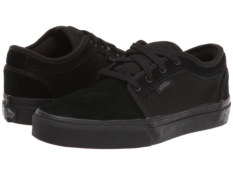 Vans Kids - Chukka Low (Little Kid/Big Kid) ((S11) Black/Black) Boys Shoes